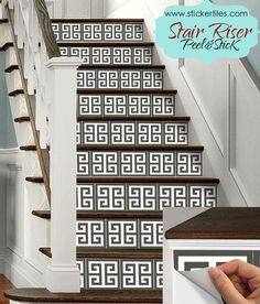 Superbe 15pc Stair Riser Vinyl Strips Removable Sticker Peel U0026 Stick : GreekKey