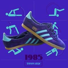 PERIOD ADIDAS TRIMM STAR ADVERTISING POSTER