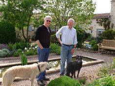 Donald Douglas and his two dogs with Robin by RobinEllisActor, via Flickr