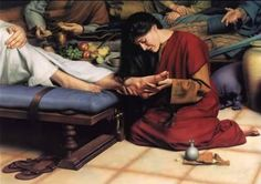 """Then took Mary a pound of ointment of spikenard, very costly, and anointed the feet of Jesus, and wiped his feet with her hair; and the house was filled with the odor of the ointment."" John 12: 3"
