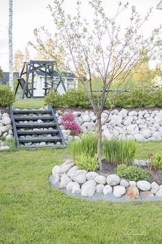 Täällä on viikonloppu vietetty pääosin ulkosalla. Puutarha alkaa vähän kylmänpuoleisesta keväästä huolimatta heräillä vähitellen kunnolla kukkaan. Olen iloinen, että ihan vahingossa tuli valittua pihan rakentamisvaiheessa kahta eri aikaan kukkivaa pensasaitaa.