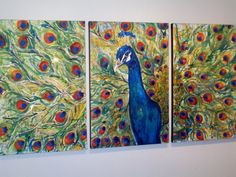Great Inspiration for a possible DIY art - Henry the VIII Peacock Trio Original Painting by JenniferMoreman