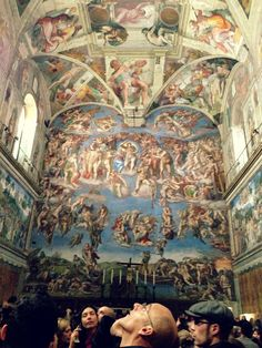 Amazing Sistine Chapel by Michael Angelo. The sheer talent and hardwork and dedication that was put into this piece leaves me in awe.