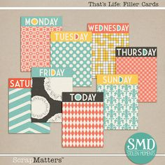 Quality DigiScrap Freebies: That's Life journal cards freebie from Stolen Moments Design