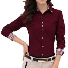 Best Quality 2014 Autumn New Patchwork Plaid Women Office Shirts Ladies Ol Basic Top Blusas Blouse Dress Shirt Professional Occupation At Cheap Price, Online Blouses & Shirts Streetwear Mode, Streetwear Fashion, Streetwear Clothing, Long Sleeve Polo, Long Sleeve Shirts, The Office Shirts, Basic Tops, Blouse Dress, Plaid