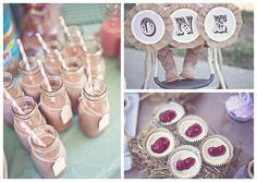 first birthday party ideas for girls chic | Shabby Chic Cowgirl Birthday Party via Kara's Party Ideas | Kara ...