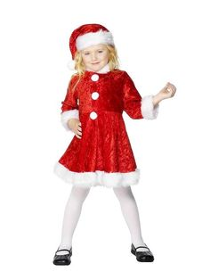 NWT Baby GIRL Christmas Santa Pajamas Outfit with attached hat