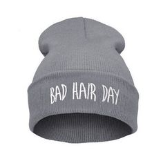 Hot 2016 New Winter Unisex Men women s hats Bad Hair Day Snap Back Beanie  bonnet femme gorros Knit Hip Hop Sport Hat Ski Cap Z1 7622403505e