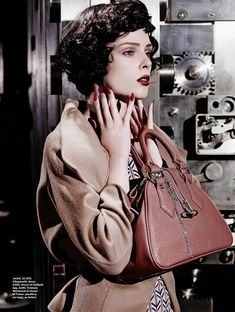 Coco Rocha Models New Haircut in Film Noir Shoot for Stylist Magazine vintage style