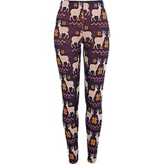 Let your legs do the walking and talking with our new season collection of women's trousers. Trouser Pants, Trousers Women, Milk Fashion, Christmas Leggings, Funny Fashion, Pants Pattern, Pattern Leggings, Navy Women, Printed Leggings