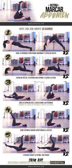 ¡NUEVA RUTINA PASO A PASO! Para marcar abdomen :) ¿Quién se anima? Empezaremos el primer ejercicio haciendo una plancha con los brazos estirados