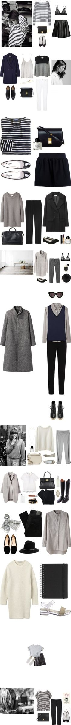 """black + white"" by calivintage ? liked on Polyvore"