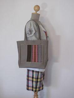 革かばん Asian style leather tote bag タイの布を使用しました。
