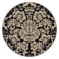 Radici USA 1717/1225/ABSO-BLACK Como Contemporary Area Rug, Absolute Black