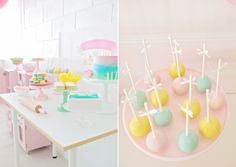 Feest inspiratie - een pastel bak feestje voor meisjes