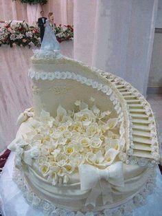 wedding cakes cakes elegant cakes rustic cakes simple cakes unique cakes with flowers Extreme Wedding Cakes, Extravagant Wedding Cakes, Elegant Wedding Cakes, Beautiful Wedding Cakes, Wedding Cake Designs, Beautiful Cakes, Amazing Cakes, Elegant Cakes, Rustic Wedding