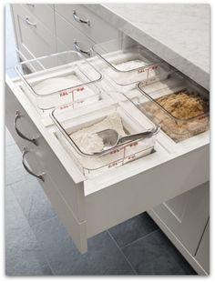 pull out baking drawer...I need this to happen in my future home! This is cool if you like to cook.