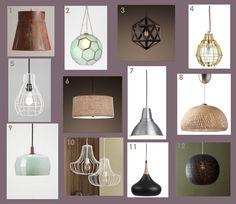 Ceiling Light fixtures.