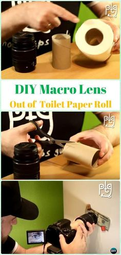 Vintage Camera DIY Macro Lens Out of Toilet Paper Roll Tutorial - DIY Photography Tips Camera Tricks Macro Photography Tips, Photography Tutorials, Life Photography, Creative Photography, Digital Photography, Improve Photography, Photography Composition, Photography Studios, Photoshop Photography