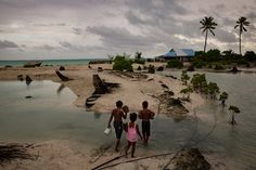 Pacific island nations are among the world's most physically and economically vulnerable to climate change and extreme weather events like floods, earthquakes and tropical cyclones, the World Bank said in a 2013 report. Kiribati is one of them that's at risk from climate change's effects because of its naturally low elevation.