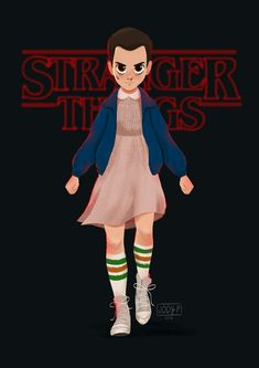"""My fanart for Eleven of Stranger Things."" by JODY PANGILINAN"