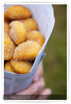 Mi dulce tentación: Buñuelos de Boniato Churros, Pretzel Bites, Sweet Recipes, Sweet Treats, Paleo, Veggies, Bread, Cooking, Ethnic Recipes
