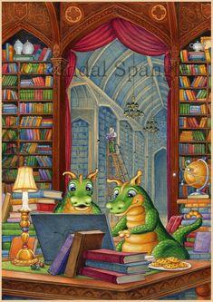 12 beaux tableaux de randal spangler - Page 20 Gothic Fantasy Art, Fantasy Artwork, Magical Creatures, Fantasy Creatures, Dragon Cat, Tree Graphic, Cute Dragons, Environment Concept Art, Backdrops