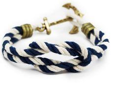 Anchor Bracelet (Navy/White) | THE LUCKY KNOT