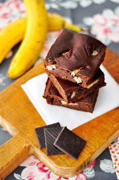 OBSESIÓN CUPCAKE: Brownie Fitness de Chocolate y Plátano sin azúcar y sin grasas