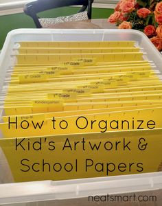 Organizing Kids' Artwork and Papers | Neat Smart