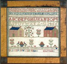 Pennsylvania wool on linen needlework sampler, wrought by Catherine MacIntyre in 1831.