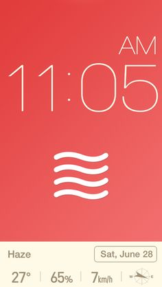 Red Clock - Reeoo iPhone Patterns