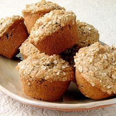 Healthy Muffin Recipes | Oatmeal Topped Fig Muffins | CookingLight.com