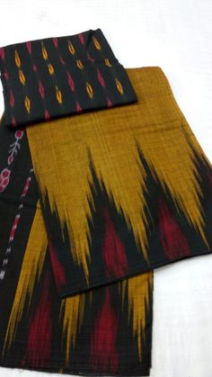 ikkat cotton sarees with blouse