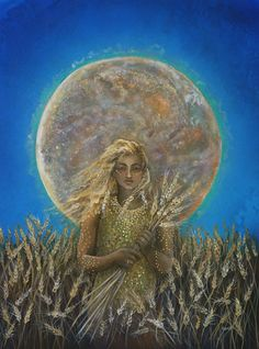 AstroSpirit / Virgo ♍ / Earth / Demeter / Ceres / The Wheat Moon by Cathy McClelland