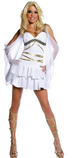 With the Aphrodite Costume - Adult Small you'll surely shake the heavens. The Aphrodite Costume - Adult Small includes the Dress only. Goddess Halloween Costume, Greek Goddess Costume, Halloween Dress, Halloween Costumes, Godess Costume, Halloween Party, Halloween Pics, Halloween 2016, Adult Halloween