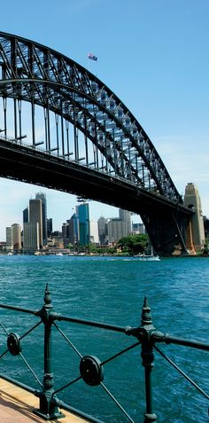 Cityscape of Sydney and the Harbour Bridge in the foreground
