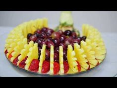 How to CUT, SLICES and DECORATE FRUIT By J. Pereira Art Carving Fruit and Vegetables - YouTube