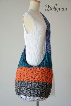 Mix N Match Hippie Cotton Crossbody Bag Shoulder Bag Boho Hobo Messenger Bag Purse EF267