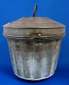 Edwardian English Tin Pudding Mold English Mould Pudding With Lid 1890-1910 Baking Tin Kitchenalia by RuthsBargains on Etsy