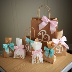 Gift Bags for Bridesmaids Small Kraft Paper by courtneyorillion
