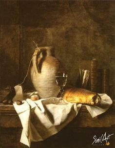 Apprêts d'un déjeuner rustique | Simil'Art Gallery