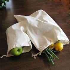 The Bulk House: Reusable Organic Cotton Produce bags (Muslin) (Sets of 3 or 6) Muslin Bags, Cotton Muslin, Bulk Food, Produce Bags, Organic Living, Snack Bags, Flour Sack Towels, Linen Bag, Food Waste