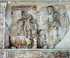 Roma, Ara Pacis, Enea che sacrifica ai Penati