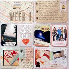Layout: Project Life Week 1 pg1