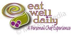 Final logo, branding - Eat Well Daily... aka nutritionist, raw food specialist and Personal Chef, Celeste Williams.