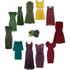 """Deep Autumn - dresses"" by adriana-cizikova on Polyvore"
