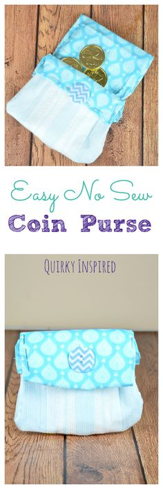 Love no sew crafts? What about upcycling crafts? This cute no sew coin purse is both! You will never guess what I used to make it #recycleyourperiodpads #ad