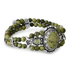 Carolyn Pollack item #2-3576-085 Green Goddess Serpentine and Peridot Coil Bracelet @ $175.00