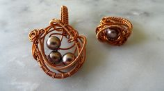 #handmade #wirejewelry #copperwire #pendant #necklace #ring
